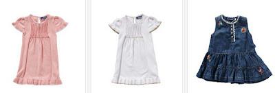 Vestidos para bebés niñas, tela o vaquero