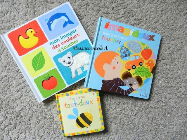 || Sélection d'imagiers à toucher : Mon imagier des couleurs à toucher, Mon gros livre à toucher, Mon premier tout-doux  (Présentation & Avis)(Chut, les enfants lisent # 48)