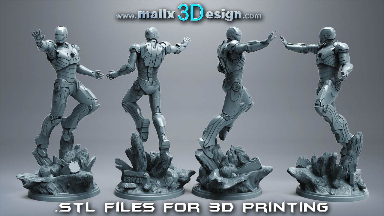 IRON MAN - 3D Printable Model