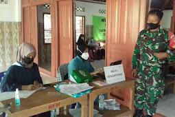 Babinsa Ceper Monitoring Vaksinasi Lansia Desa Srebegan