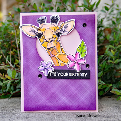 Lawn Fawn Perfectly Plaid purple paper