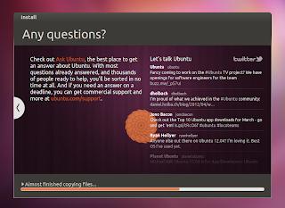 ubuntu 12.04 installer twitter