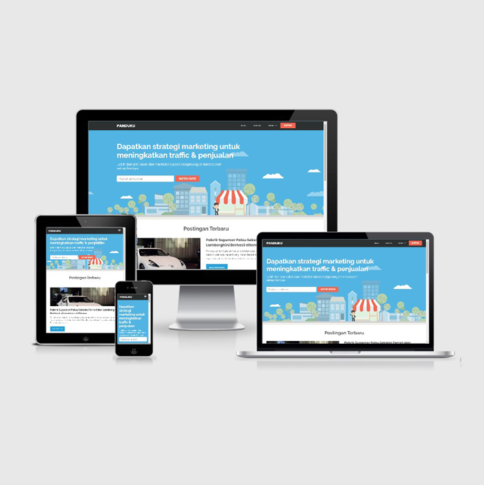 Jual Template Blog Tentang Panduan Marketing - Mirip situs PanduanIM