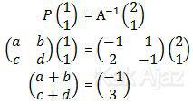Persamaan matriks P yang kedua