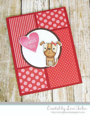 I Woof You card-designed by Lori Tecler/Inking Aloud-stamps and dies from Reverse Confetti