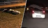 (Video) 'Pocong babi!' - Pocong terjatuh dari atas kereta