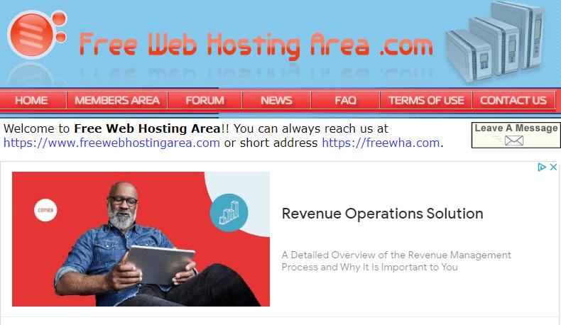 FreeWebHostingArea penyedia hosting gratis