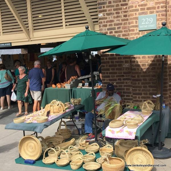 sweet grass baskets at Charleston City Market in Charleston, South Carolina