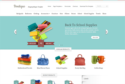 Boutique - Template Blog Toko Online Responsive