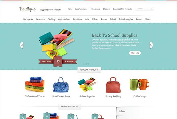 Boutique Responsive eCommerce Blogger Template
