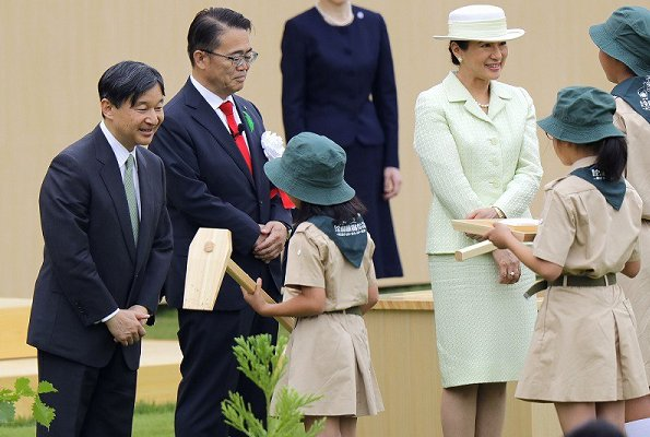 Emperor Naruhito and Empress Masako attended the 70th National Tree Planting Festival at the Aichi Prefecture Forest Park
