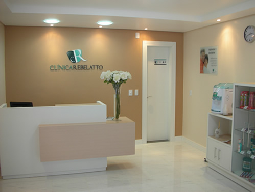 Construindo minha casa clean decora o recep o de - Clinica dental moderna ...