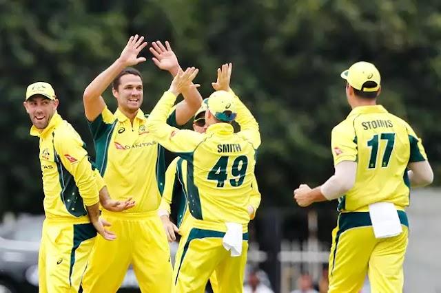 धोनी - पंडया की धमाकेदार पारी - भारत ने ऑस्ट्रेलिया के सामने रखा 282 रनों का लक्ष्य