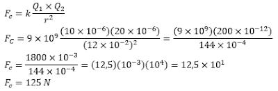 Contoh Soal Hukum Coulomb 2