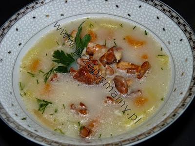 Zupa z kurek z ziemniakami