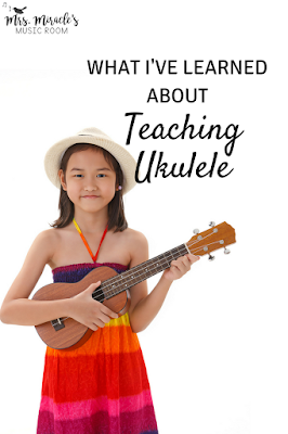 What I've learned about teaching ukulele: includes tips about ukulele brands, storage, teaching tips, and more for your music lessons!