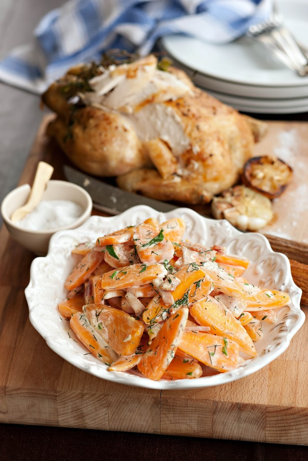 Farmers Roast Chicken With Creamed Chantenay