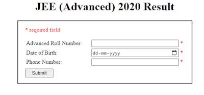 JEE Main Advanced Result 2020