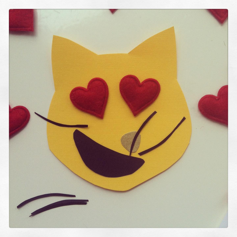 Catsparella Diy Cat Emoji Valentine S Day Cards