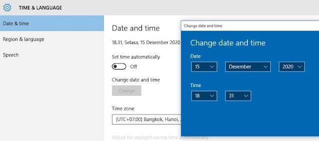 cara mengatur jam di laptop agar tidak berubah