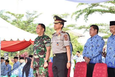 Wakapolda Jambi Hadiri Peringatan HUT Korpri Dilapangan Kantor Gubernur Jambi