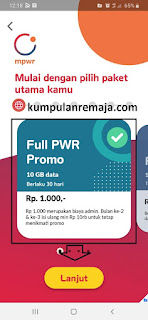 Paket internet Gratis 10GB dari Kartu digital MPWR