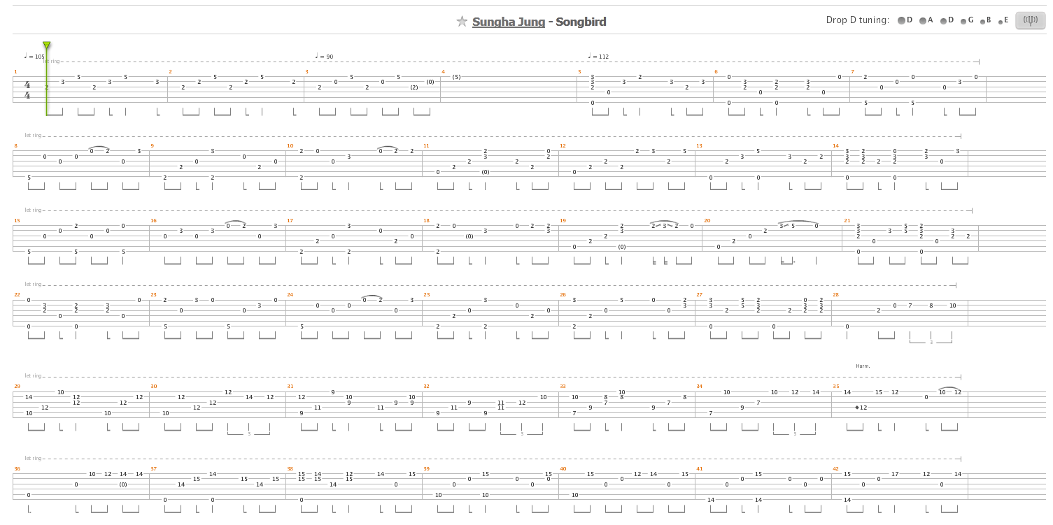 DUST IN THE WIND SUNGHA JUNG TABS PDF