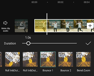 how to add bounce effect to video