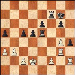 Partida de ajedrez Borao-Manchón, posición después de 34…h4!