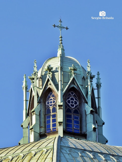 Close-up do Minarete do domo da Catedral da Sé - São Paulo