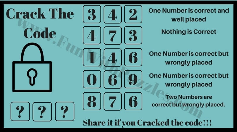 Will you crack the code? puzzles with answers - Fun With Puzzles