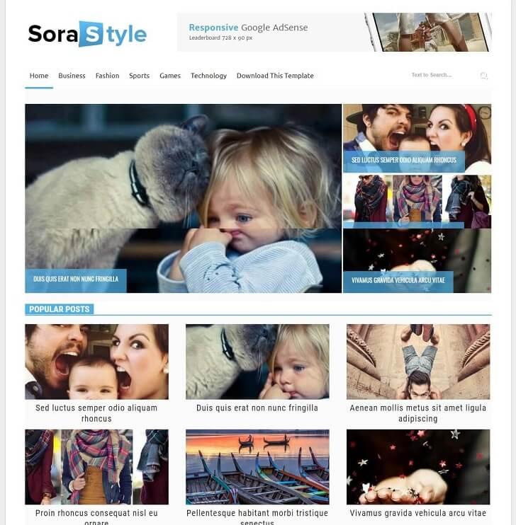 Sora Style Blogger тема