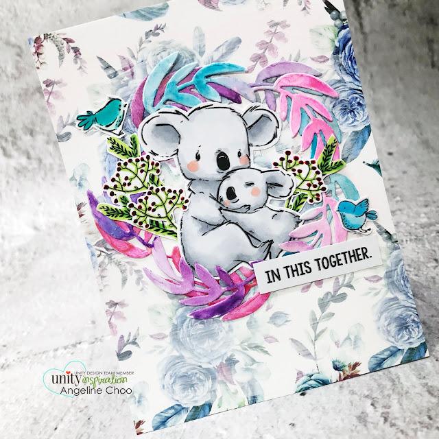 ScrappyScrappy: Help Australia with Unity Stamp - KOALA-TY friends #scrappyscrappy #unitystampco #helpaustralia #australiawildfires #weloveaustralia #koala #koalabear #cardmaking #papercraft #youtube #quicktipvideo #gracielliedesign #pinkandbluewatercolored #unitystamppaper #mftstamps #joyfulwreathdie #watercolors #altenewwatercolor #watercolorpainting #cuddlebugkoala