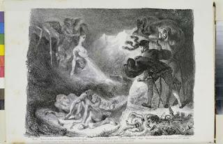 Une représentation de la nuit de Walpurgis, par Ferdinand Delacroix