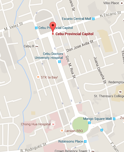 Location of Cebu Provincial Capitol