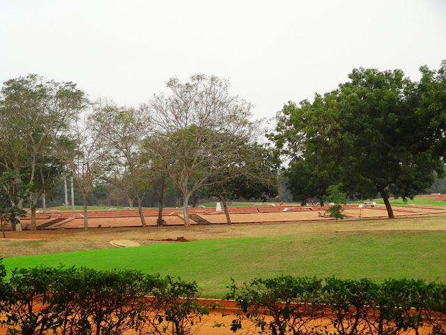 Lawns around  Meditation Glob at Auro Ville Global Village - Pondicherry Pick, Pack, Go