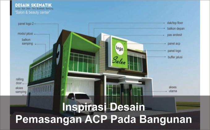 contoh pemasangan ACP bangunan