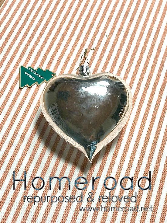 Vintage Silver Heart Ornaments. Homeroad.net