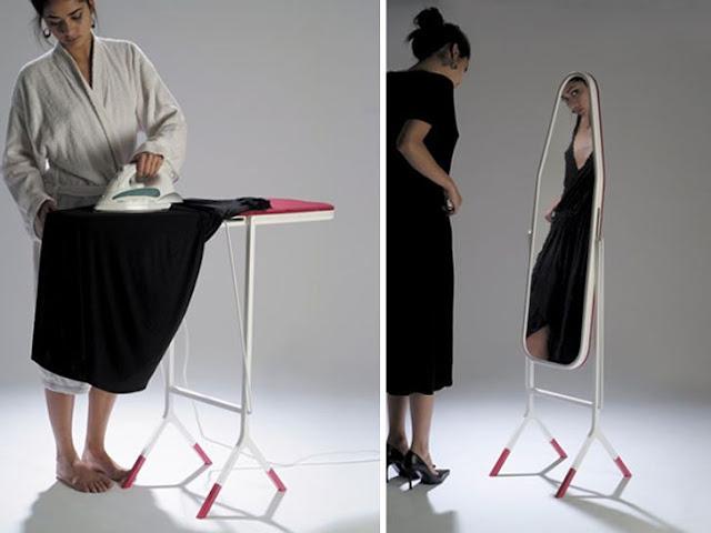 طاولة كي مع مرآة
