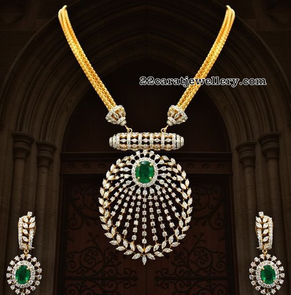 Diamond Pendant by Anoop Chand Jewellers