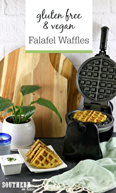 Gluten Free and Vegan Falafel Waffles Recipe - healthy, low fat, high protein, plant based, gluten free, vegan
