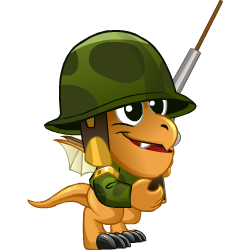 Appearance of Soldier Dragon when baby