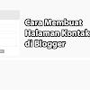 Cara Membuat Halaman Kontak di Blogger