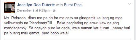 Presidential Sister Jocellyn Duterte Gives A Message To VP Leni Robredo: 'Buti Pa Ang Buang May Gamot, Pero Bobo Wala'