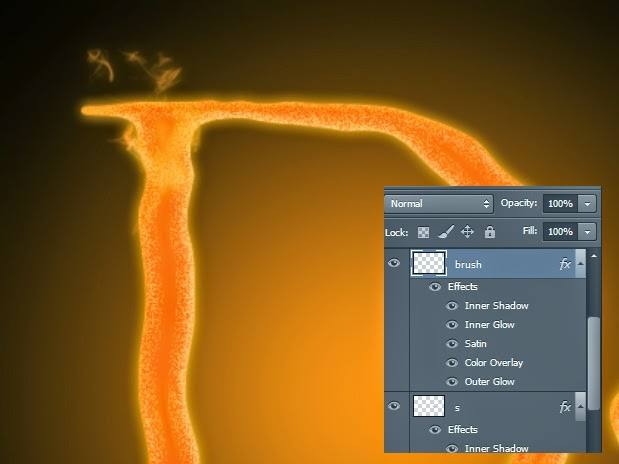 teks efek api, tutorial teks efek, tutorial photoshop