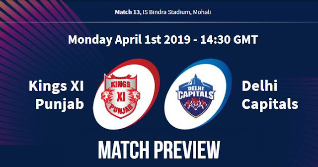 VIVO IPL 2019 Match 13 KXIP vs DC Match Preview, Head to Head and Trivia