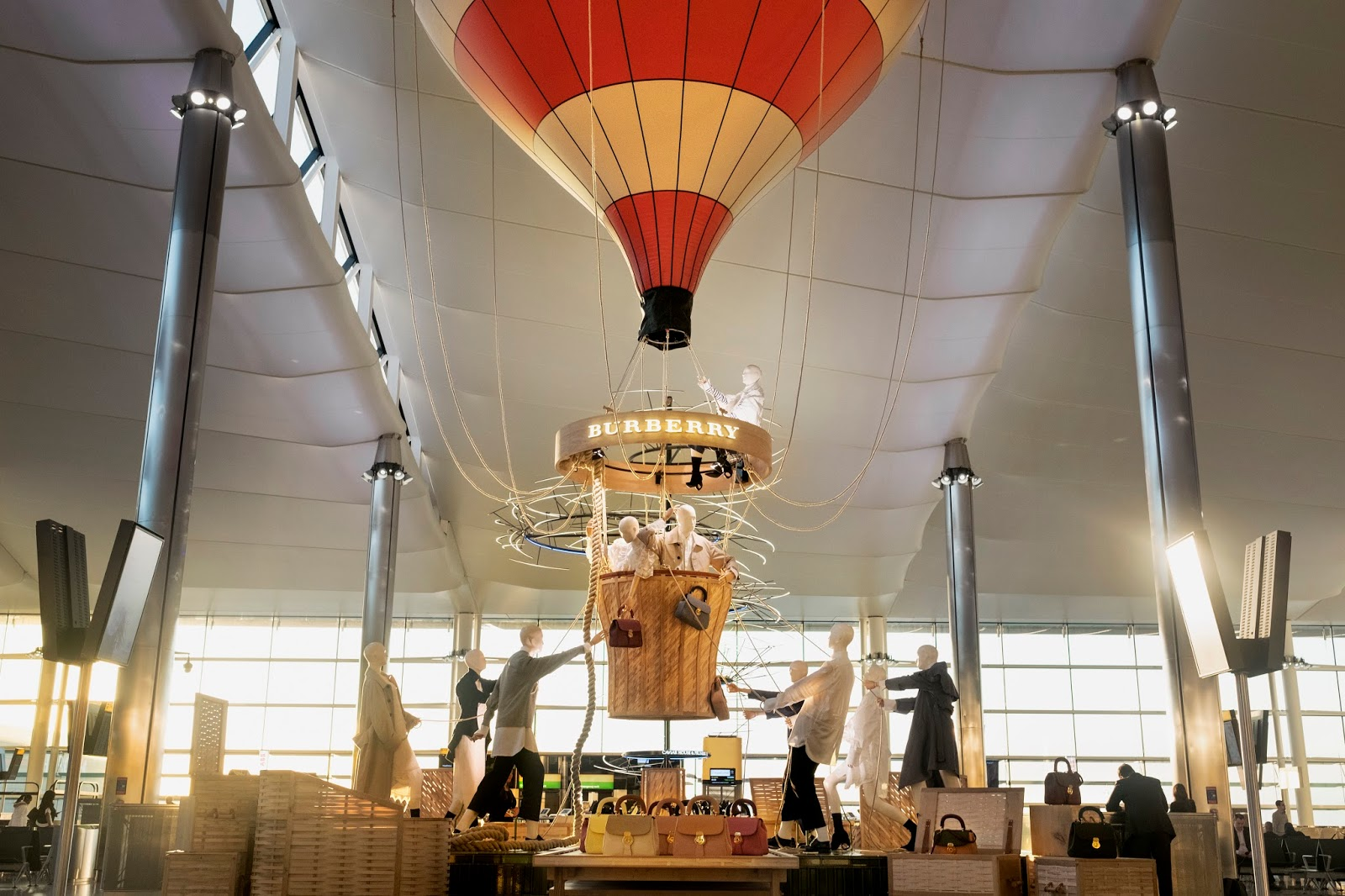 Burberry's Hot Air Balloon Installation & Pop-Up Store at Heathrow