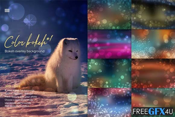 Color Bokeh Overlay Photo Backgrounds