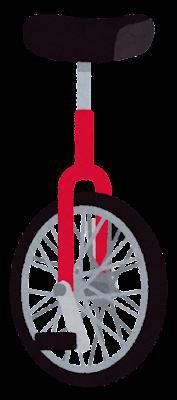 一輪車のイラスト(赤)