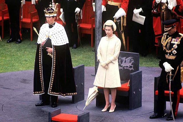24º coronação-investidura de um príncipe de Gales. Efetivda no castelo de Caernarfon em 1969 pela Rainha Elizabeth na pessoa de seu filho primogênito Charles